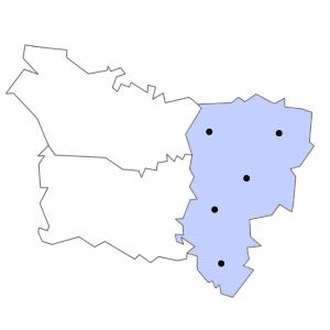 Carte du département de l'Aisne