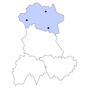Carte du département de l'Allier