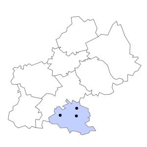 Carte du département de l'Ariège