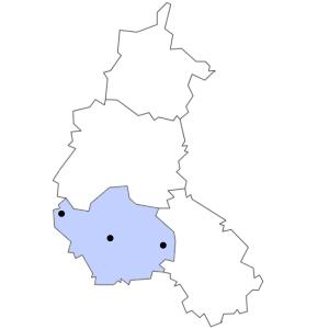 Carte du département de l'Aube