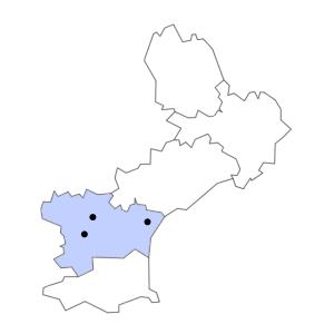 Carte du département de l'Aude