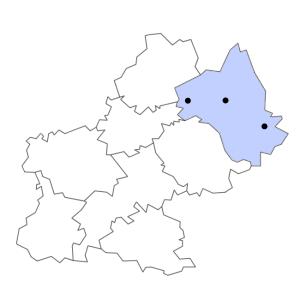 Carte du département de l'Aveyron