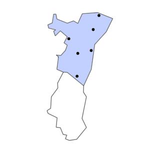 Carte du département du Bas-Rhin