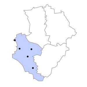 Carte du département de la Charente-Maritime