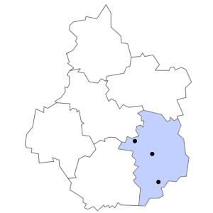 Carte du département du Cher