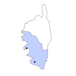 Carte du département de la Corse-du-Sud