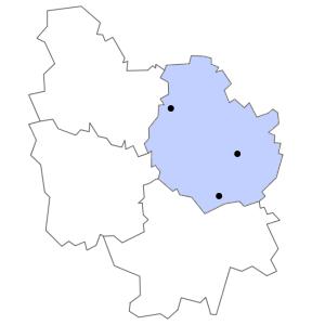 Carte du département de la Côte-d'Or
