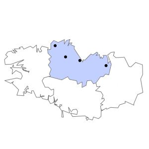 Carte du département des Côtes-d'Armor