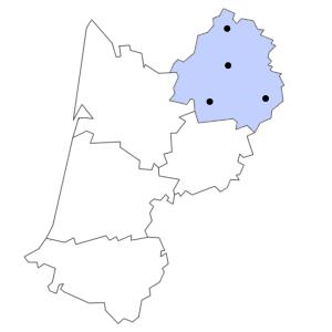 Carte du département de la Dordogne