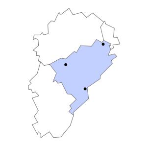 Carte du département du Doubs