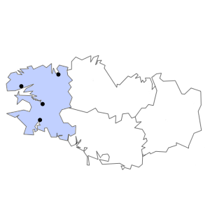 Carte du département du Finistère