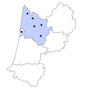Carte du département de la Gironde