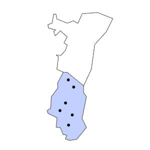 Carte du département du Haut-Rhin