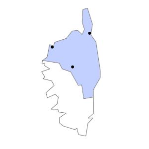 Carte du département de la Haute-Corse