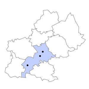 Carte du département de la Haute-Garonne