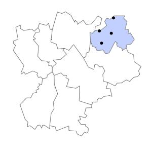 Carte du département de la Haute-Savoie