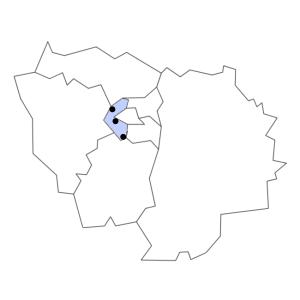 Carte du département des Hauts-de-Seine