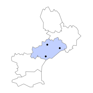 Carte du département de l'Hérault