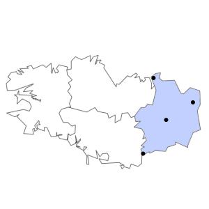Carte du département d'Ille-et-Vilaine