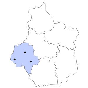 Carte du département d'Indre-et-Loire