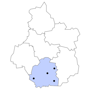 Carte du département de l'Indre