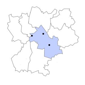 Carte du département de l'Isère