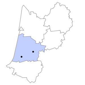 Carte du département des Landes