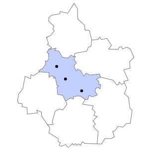 Carte du département du Loir-et-Cher