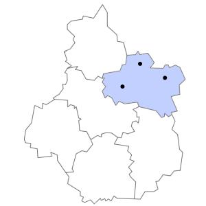 Carte du département du Loiret