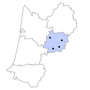 Carte du département de Lot-et-Garonne