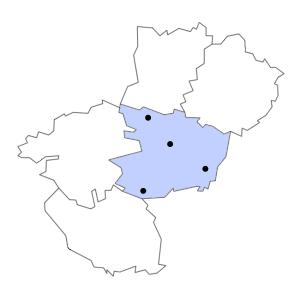 Carte du département de Maine-et-Loire