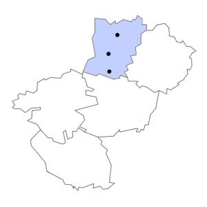 Carte du département de la Mayenne