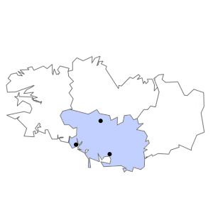 Carte du département du Morbihan