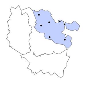 Carte du département de la Moselle