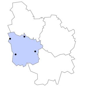 Carte du département de la Nièvre