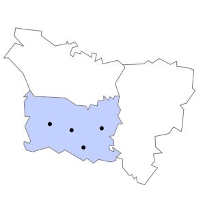 Carte du département de l'Oise