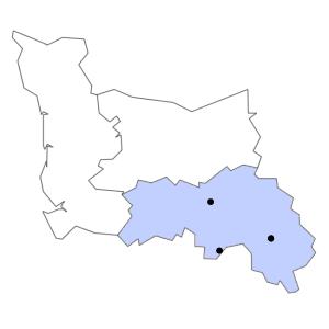Carte du département de l'Orne