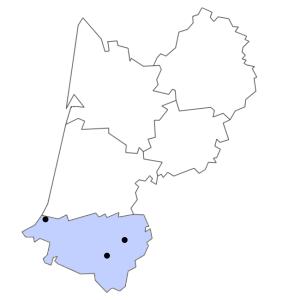 Carte du département des Pyrénées-Atlantiques