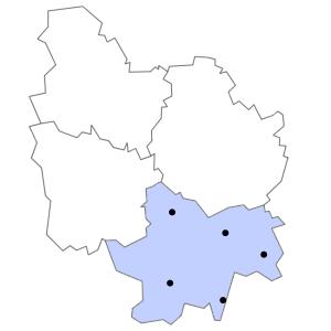 Carte du département de Saône-et-Loire