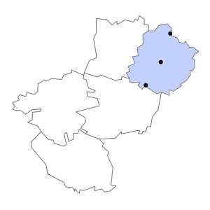 Carte du département de la Sarthe