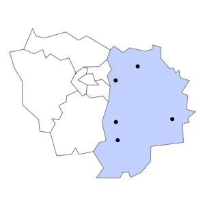 Carte du département de Seine-et-Marne