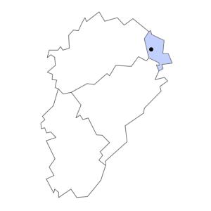 Carte du département de Territoire de Belfort