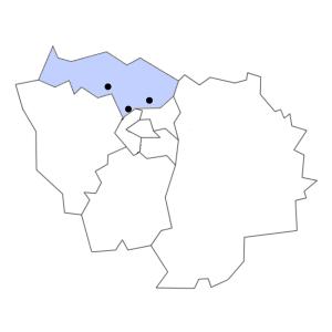 Carte du département du Val-d'Oise
