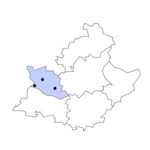 Carte du département de Vaucluse