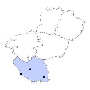 Carte du département de la Vendée