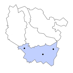 Carte du département des Vosges