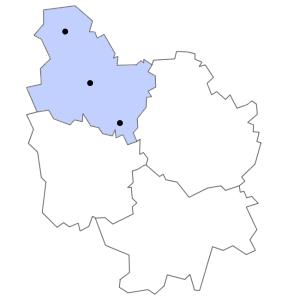 Carte du département de l'Yonne