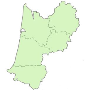 Départements de la région Aquitaine