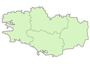 Départements de la région Bretagne