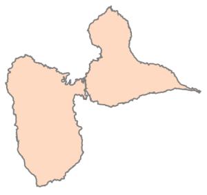 Départements de la région Guadeloupe